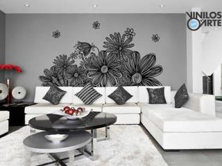 - Salones de estilo moderno de Vinilos con Arte Moderno