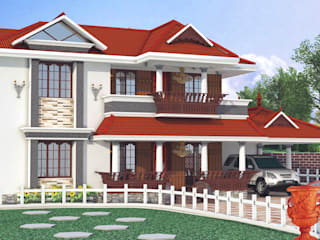 Construction Ongoing Kollam Asian style houses by Gentle Homes- Architects and Builders Asian
