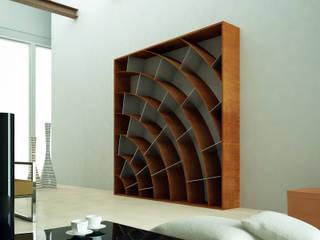 Libreria cor-ten:  in stile  di Design art