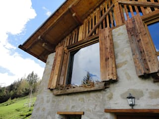 Rustic style windows & doors by zanella architettura Rustic