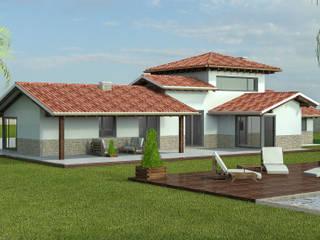 VIVIENDA DE 5 DORMITORIOS: Casas de estilo  de 3VG Teccon - JAVIER VIZOSO