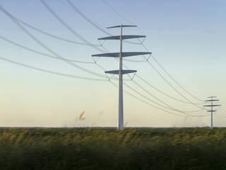Pylône Synergie pour ligne électrique RTE par CONCEPT FRENOY DESIGN Minimaliste