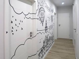 dziurdziaprojekt Коридор, прихожая и лестница в модерн стиле