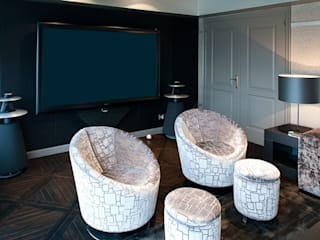 Modern Media Room by Isa de Luca Modern