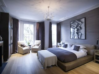 St James's Gardens, London Modern style bedroom by Nelson Design Limited Modern