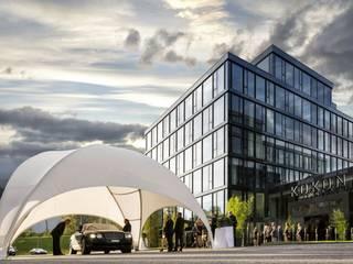Crossover Large: moderner Balkon, Veranda & Terrasse von EventZelte - Jumping Star® e.K.