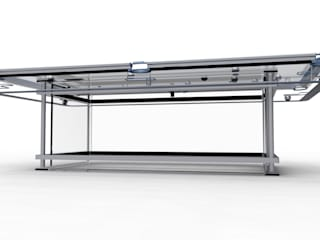 G7 Glass Pool Table de Quantum Play Minimalista