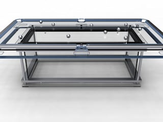 G7 Glass Pool Table par Quantum Play Minimaliste