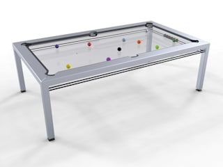 G4 Glass Pool Table de Quantum Play Minimalista