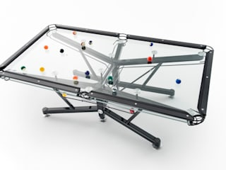 G1 Glass Pool Table de Quantum Play Moderno