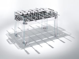 Cristallino Foosball Table par Quantum Play Moderne