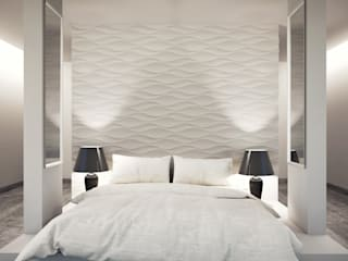3D Wandpaneele - Design Nr. 24 FLOW Moderne Schlafzimmer von Loft Design System Deutschland - Wandpaneele aus Bayern Modern