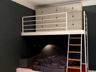 غرفة نوم تنفيذ BlueGray Design Farrow & Ball u. Pure & Original Farben