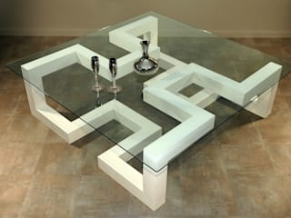 Tble basse Labyrinthe par Design Bois Creation Éclectique