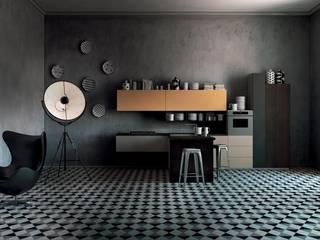 Italian Modular Kitchens:   by Grandeur Interiors