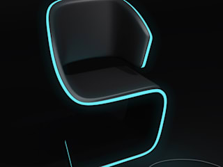 Lamed Chair design © Rodolphe Pauloin: Salon de style  par luxense design