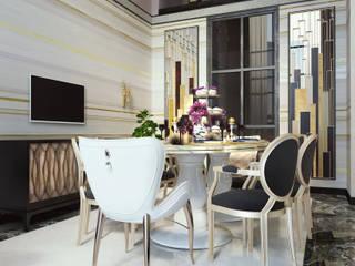 Проект пентхауса. Столовая Кухня в классическом стиле от Katerina Butenko Классический