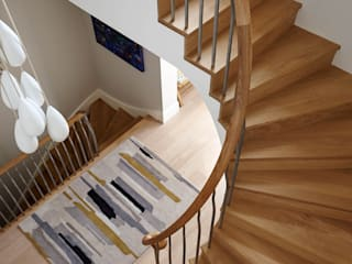 New Build Staircase 3502 Bisca Staircases Ingresso, Corridoio & Scale in stile moderno