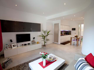 Salas de estar  por Studio_P - Luca Porcu Design , Minimalista