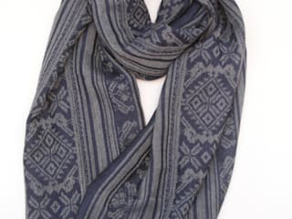 Hungarica :: Mens Cashmere Scarf :: Grey / Navy  :   by Julia Brendel Limited