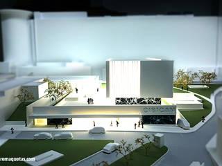 Centro de investigación Biomédica Edificios de oficinas de estilo moderno de MODULARE MAQUETAS Moderno