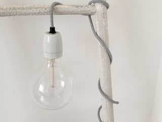 Bare bulb fabric flex light:   by An Artful Life