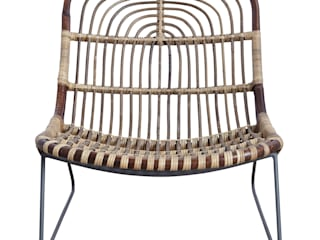 Kawa lounge chair de An Artful Life Moderno