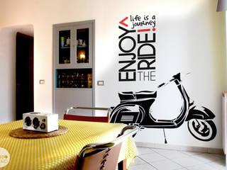 CreativeGLAM :: l'appartamento di Martina e Valerio Soggiorno eclettico di Spazio 14 10 di Stella Passerini Eclettico