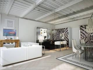 Residenze a Ferrara Soggiorno eclettico di Atelièr di progettazione Eclettico