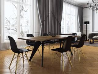 Salle à manger familiale: Salle à manger de style de style Classique par Agence KP