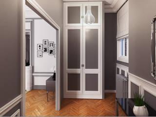Agence KP Pasillos, vestíbulos y escaleras clásicas Gris