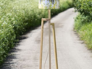Handmade Fern Lampshade and Rubberwood Floor Lamp:   by For All We Know