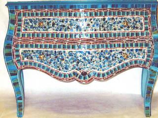 SAMARCANDE - commode sculpturale par Artiste Mosaïste-créatrice