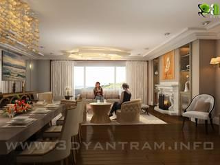 Гостиная в . Автор – Yantram Architectural Design Studio,