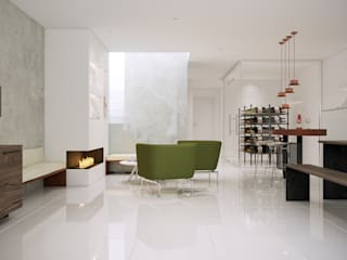 Gramil Interiorismo II - Decoradores y diseñadores de interiores ミニマルデザインの ワインセラー