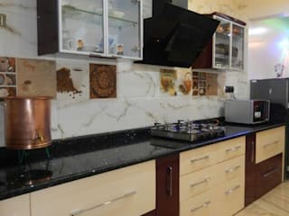 kitchen Modern kitchen by ajinkyainteriors Modern