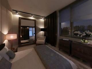Dormitorios de estilo  de dziurdziaprojekt