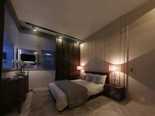 Dormitorios de estilo moderno de dziurdziaprojekt Moderno