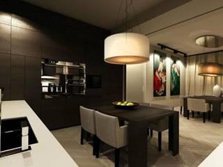 Cocinas de estilo moderno de dziurdziaprojekt Moderno
