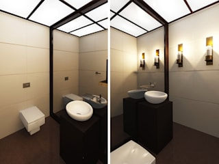 160m, Wola, Wwa Nowoczesna łazienka od dziurdziaprojekt Nowoczesny