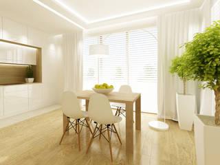 Scandinavian style dining room by dziurdziaprojekt Scandinavian