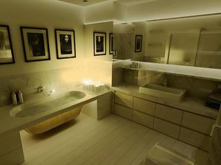 172m, Wola, Wwa Nowoczesna łazienka od dziurdziaprojekt Nowoczesny