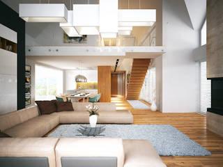 LK&1172: styl , w kategorii Salon zaprojektowany przez LK & Projekt Sp. z o.o.,