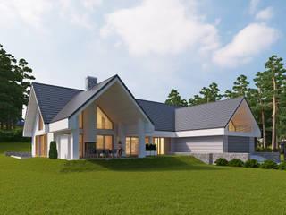 LK&1172: styl , w kategorii Domy zaprojektowany przez LK & Projekt Sp. z o.o.,