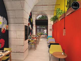 Vue intérieure - Café restaurant Fresh Up à Bordeaux: Bars & clubs de style  par Agence Ideco