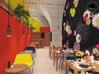Vue intérieure - Café restaurant Fresh Up à Bordeaux: Espaces commerciaux de style  par Agence Ideco