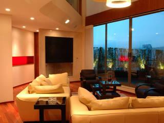PH B Las Nubes Living room by ARCO Arquitectura Contemporánea