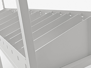 Uno, scaffalatura a gancio:  in stile industriale di Fantin, Industrial