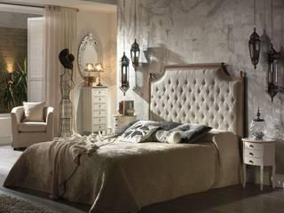 Dormitorio romantico:  de estilo  de Muebles la toskana