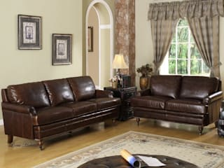 Leather Sofa in a Country House Locus Habitat Living room